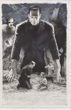 Frankenstein's Monster by Bernie Wrightson *