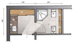 Esempio di antibagno con dimensioni home bathroom
