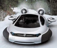 The VW Aqua can also run over ice and snow (Picture: Solent)