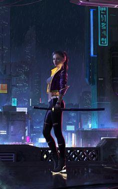 Cyberpunk girl by Minh Bui Cyberpunk City, Cyberpunk 2077, Cyberpunk Kunst, Cyberpunk Aesthetic, Cyberpunk Fashion, Cyberpunk Anime, Steampunk Fashion, Gothic Fashion, Science Fiction