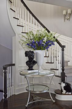 Staircase Detail | Fairhope Avenue residence | For information about pieces featured in this photo, please email us: design@oharainteriors.com
