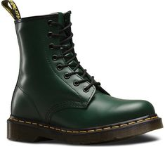 Dr. Martens 1460 8-Eye Boot - Green Smooth Leather with FREE Shipping & Exchanges. When you think of Dr. Martens, you think of the 1460 8-Eye Boot. This style icon includes all of the