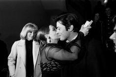 At the Les choses de la vie premiere with Romy and Mireille Darc.
