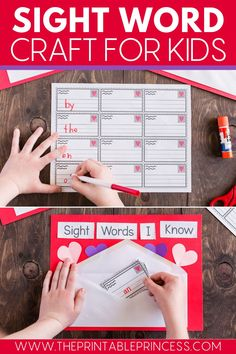 Looking for an easy, fun, and festive Valentine's craft? This blog post is for you! By creating this FREE printable sight word craft, your students will have so much fun, they won't realize they are actually learning!