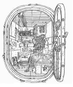 whodesignedthis:  Neo's Room (The Matrix) by Geof Darrow