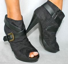 NWB $65 Gloria Vanderbilt JANESSA High Heel Peep Toe Ankle Bootie Womens Boots | eBay