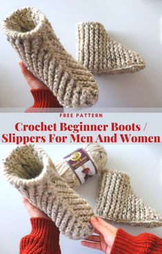 Rw Make a slip knot, Ch In chain from the hook DC 3 in same chain.The three skipped ch count as a DC. Make 14 DC. There will be one chain remaining. In last chain, make 7 DC. Crochet Slipper Boots, Crochet Slipper Pattern, Crochet Patterns, How To Crochet Slippers, Free Crochet, Knit Crochet, Crab Stitch, Crochet For Beginners, Womens Shoes Wedges