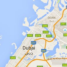 Dubai -- Interactive map
