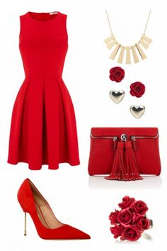 Gorgeous date night outfit #style #fashion Not everything red, just not my personality.