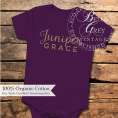 Personalized name baby onesie - Introduce your little one in style - 100% organic cotton - custom  baby shower gift