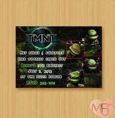 DIY Printable TMNT Boys Birthday Invitation  Digital by MFSParty, $6.95