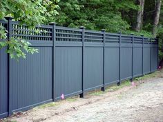 A privacy fence can add great styling and more privacy to your home and property. offers a complete line of privacy fence styles to meet your needs. Wood Fence Design, Modern Fence Design, Privacy Fence Designs, Privacy Fences, Backyard Privacy, Backyard Fences, Garden Fencing, Outdoor Privacy, Privacy Walls