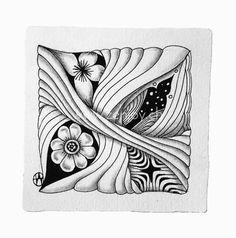 Zentangle tile by Zenjoy