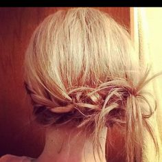 Easy rope braid with a messy side bun on my client