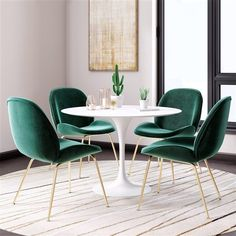 101 Simple But Modern Dining Room Design Ideas You Will Love - Your home is special and when it comes to decorating it you cannot ignore the importance and the utility of modern furniture. Today, homes have become. Mid Century Dining, Dining Chair Set, Velvet Dining Chair, Upholstered Dining Room Chairs, Dining Sets, Colored Dining Chairs, Velvet Chairs, Sofa Upholstery, Dining Tables