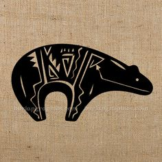 My Native American birth sign. Native Symbols, Indian Symbols, Native American Symbols, Native Art, Tribal Bear, Native American Animals, Native Tattoos, Bear Tattoos, Tatoo