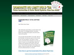 ① Poker Ebook That Converts - http://www.vnulab.be/lab-review/%e2%91%a0-poker-ebook-that-converts