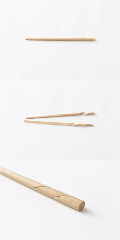 Rassen chopsticks by designer Oki Sato of Japanese design team Nendo Japan Design, Food Design, Creative Design, Module Design, Design Japonais, 3d Prints, Industrial Design, Packaging Design, Furniture Design