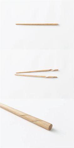 The Rassen chopsticks by designer Oki Sato of Japanese design team Nendo