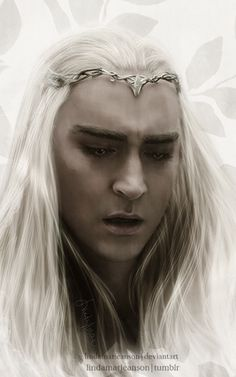 lindamarieanson:  King Of MirkwoodSo it was that time to paint another Thranduil portrait.