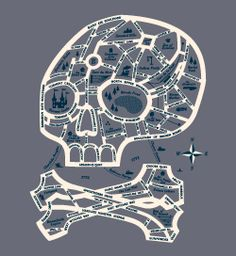 """Map to Ghost Town"" Threadless T-Shirt design by Esther Aarts. Awesome."