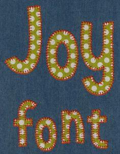 691 Joy Blanket Stitch Applique Font *REVISED*
