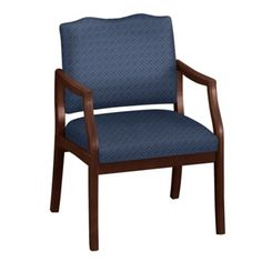 Arm Chair in Fabric or Vinyl with 400lb Weight Capacity - Traditional Office Chair | National Business Furniture