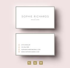 Modern two side business card templa by Emily's ART Boutique  on Creative Market