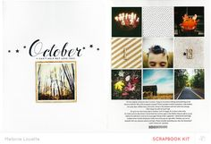 October - *Main only* by melanie louette at @studio_calico - two page layout design