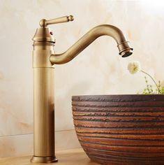 Classic Antique Bronze Finish Bathroom Sink Tap T0404H