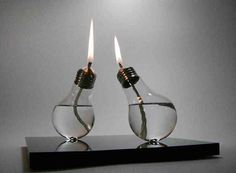 """Upcycle used lightbulbs into candles."""
