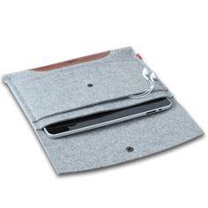 iPad- oder Laptop-Tasche aus 100 % Wollfilz