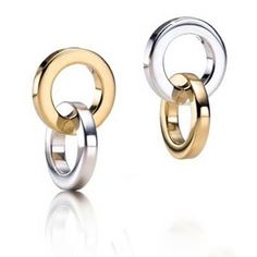 Tiffany Outlet Double Rings Drop Earrings