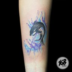 #orca #killerwhale tattoo with watercolor style