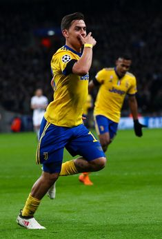 Paulo Dybala of Juventus celebrates after scoring his team's second goal during the UEFA Champions League Round of 16 Second Leg match between Tottenham Hotspur and Juventus at Wembley Stadium on March 7, 2018 in London, United Kingdom. - 100 of 209