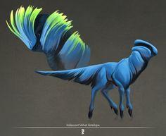 Iridescent velvet antelope., Iker Paz on ArtStation at http://www.artstation.com/artwork/iridescent-velvet-antelope