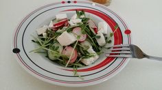 Spring Radish pea sprout salad