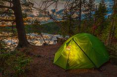 Camping in beautiful Algonquin Park, Ontario, Canada...