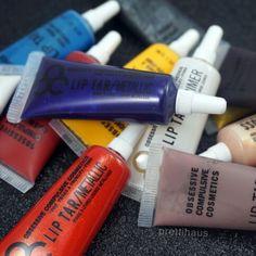 Obessive Compulsive Cosmetics older style lip tars. Technopagan, Manhunter, Sebastian, Dune, Traffic and more.