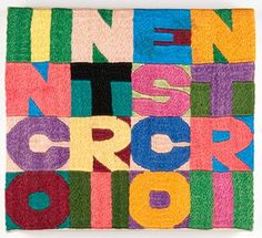 Embroidery as Art: Order and Disorder: Alighiero Boetti by Afghan Women