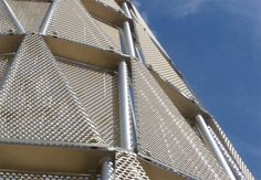 Perforated sheet metal panel (round holes) UNMC TOWER Zahner