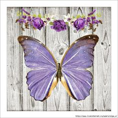 Butterfly Crafts, Butterfly Art, Butterfly Design, Butterflies, Lilac Painting, Painting On Wood, Borboleta Diy, Printable Scrapbook Paper, Printable Pictures