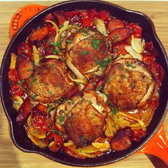 Skillet Spanish Chicken - delicious one pan meal!
