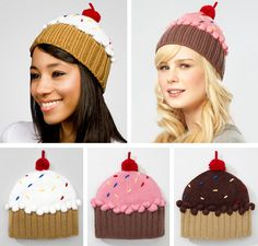 Cupcakes!!!!  (These are knitted, but it would be easy to crochet them instead.)