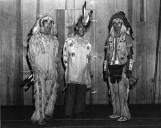 Cherokee Indian Archive images | 21997 Three Cherokee Indians, with Chief Sequoia on the right ...