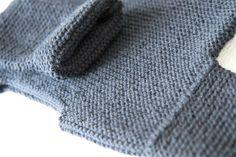 """les tricots de Granny - Le pull """"granit"""" Création Granny © - Taille 2 ans"""
