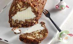 Ένα παγωμένο γλυκό ψυγείου, πανεύκολο στη παρασκευή του για να το απολαύσετε, μικροί και μεγάλοι, τις ζεστές μέρες του καλοκαιριού, και όχι μόνο, σαν το Greek Desserts, Greek Recipes, Tiramisu, Banana Bread, Deserts, Muffin, Dessert Recipes, Ice Cream, Pudding