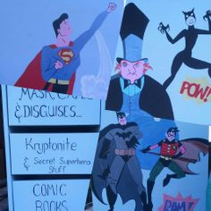 ~ Super Hero's / Super Villains ~ Re-purposed Vintage Artistic Chest ... https://www.facebook.com/Artsy.Me.by.L.Marie