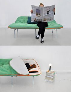 A Sofa That Can Turn Itself Into A Sleeping Bag | Cool Feed.me - Cool Stuff To Buy And Drool Over