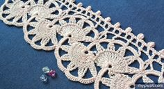 MyPicot | Free crochet patterns Antique Shell Edging: Diagram + step by step instructions